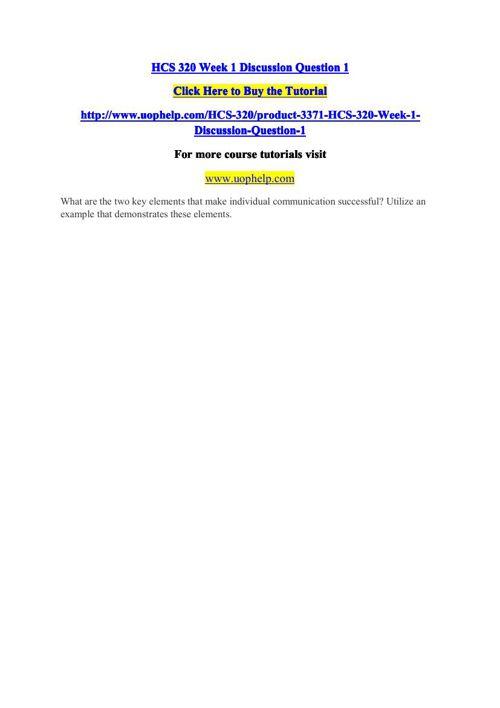 HCS 320 Academic Coach/uophelp
