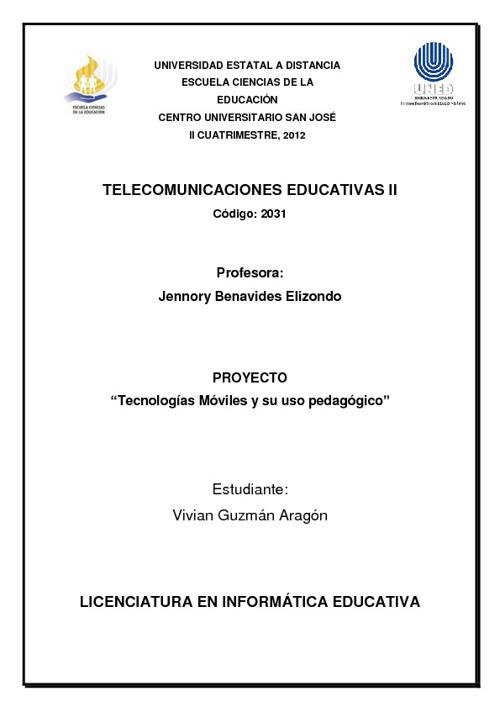 Tecnologías Móviles y su uso pedagógico