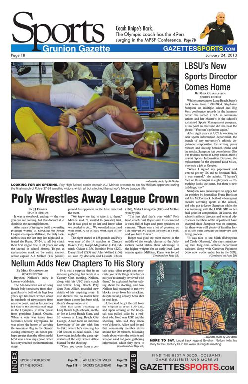 Gazette Sports   January 24, 2013