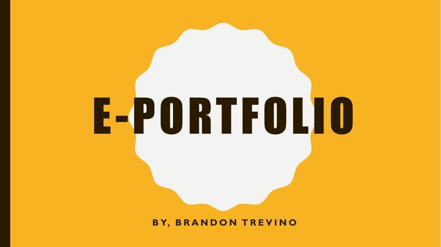 E-Portfolio Final one with extra credit