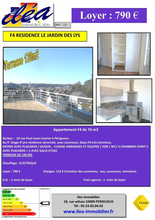 Catalogue location appartement F3 / F4 Location Avril