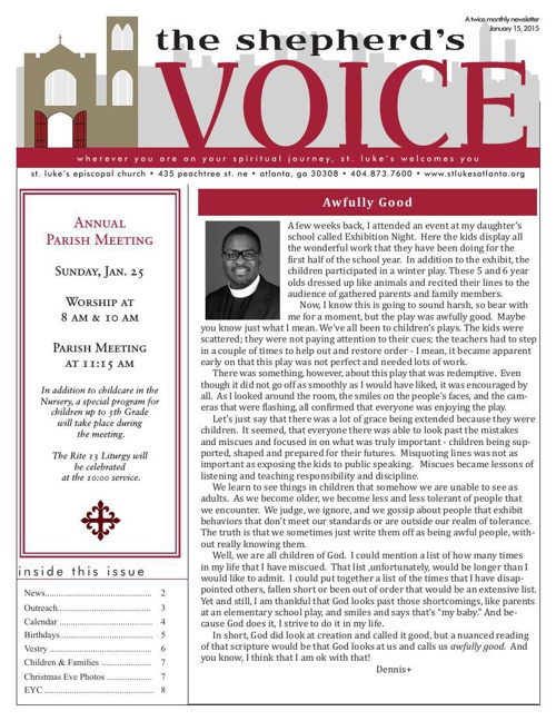 Shepherd's Voice Jan. 15, 2015
