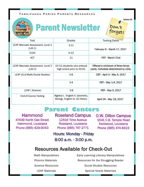 Parent Resources V20