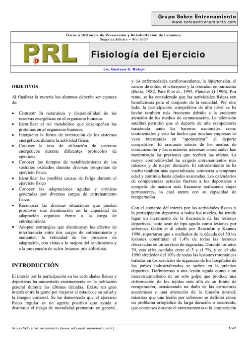 Fisiología del ejerccio