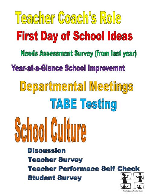 Teacher Coach Agenda 8.4.11