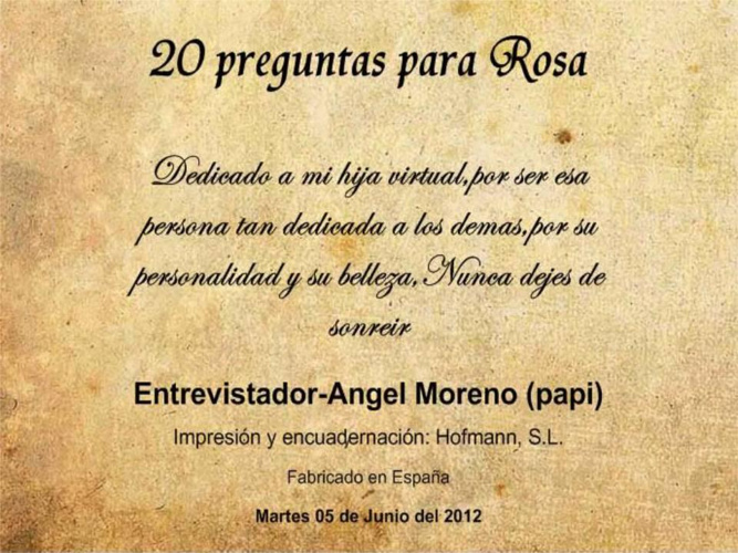 20 preguntas para Rosa