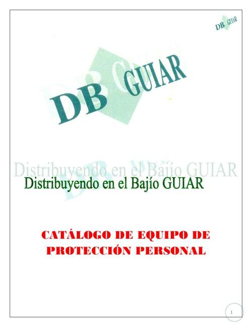 Catalogo de Equipo de Proteccion Personal