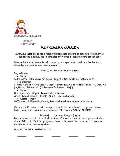 REGIMENPRIMERACOMIDA