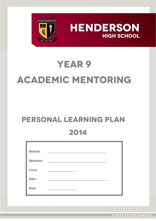 2014 HHS Year 9 PLP booklet