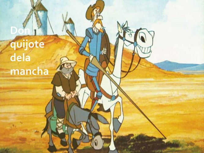 Historieta de Don Quijote.