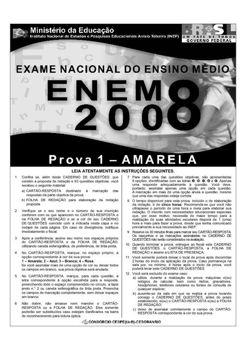 Prova Enem 2008