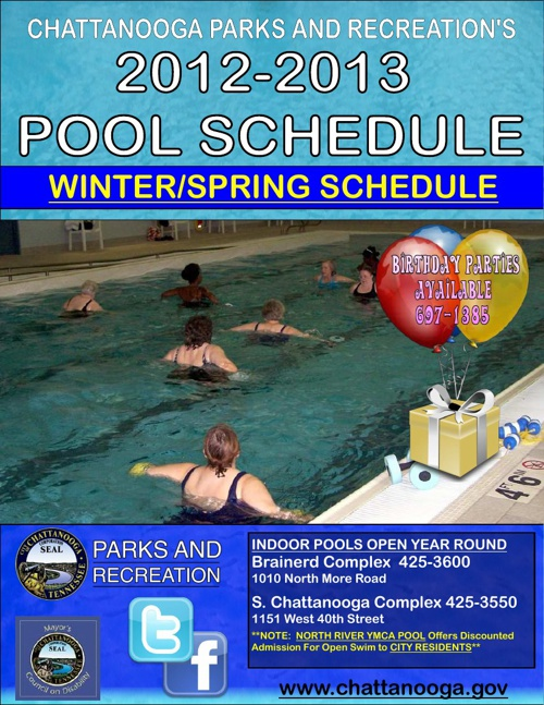 City of Chattanooga Winter/Spring Pool Schedule