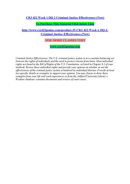 CRJ 422 (NEW) Teaching Effectively/crj422genius.com