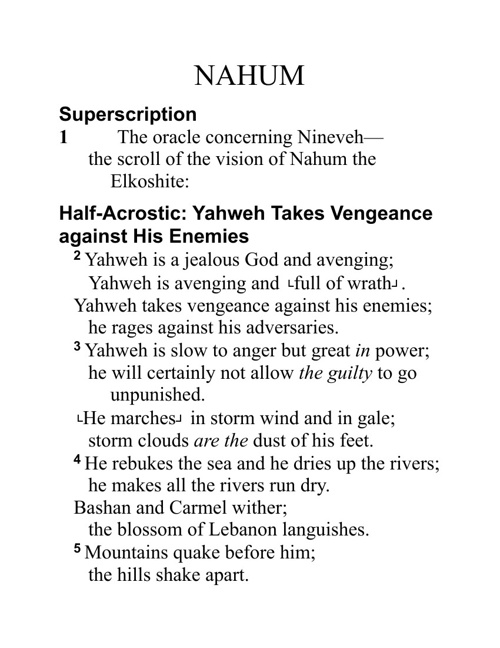 Book Of Nahum