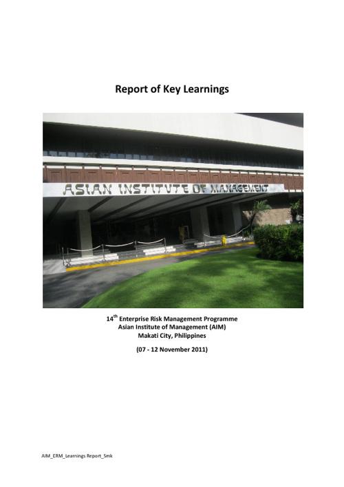 AIM _ERM Learnings