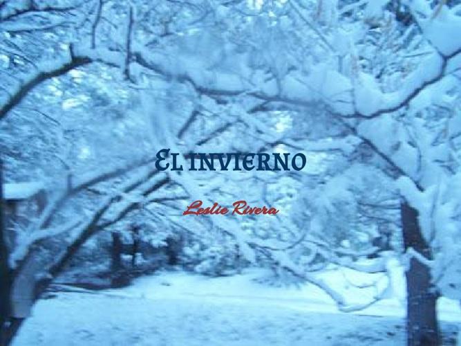 El invierno - Leslie Rivera