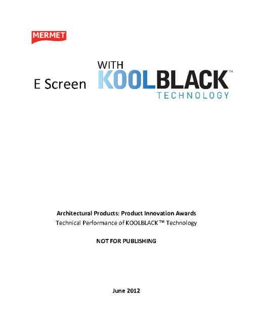 KOOLBLACK™ Technology Technical Brochure