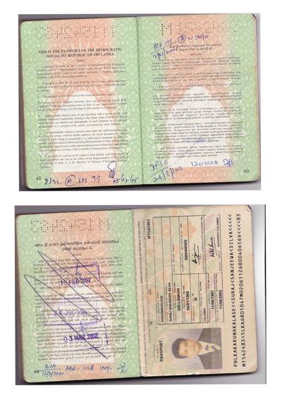 Mr. Suraj Sanjeewa Passport