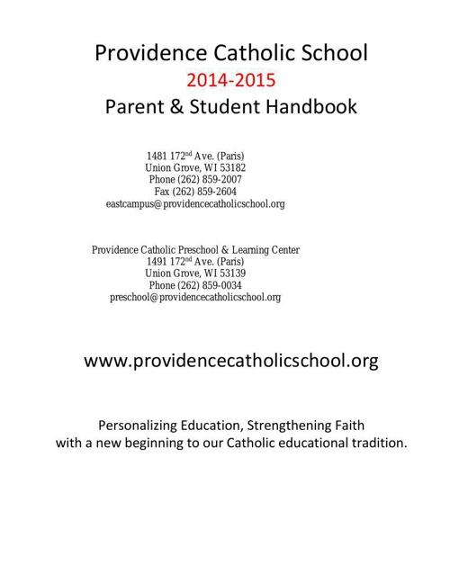 Parent - Student Handbook