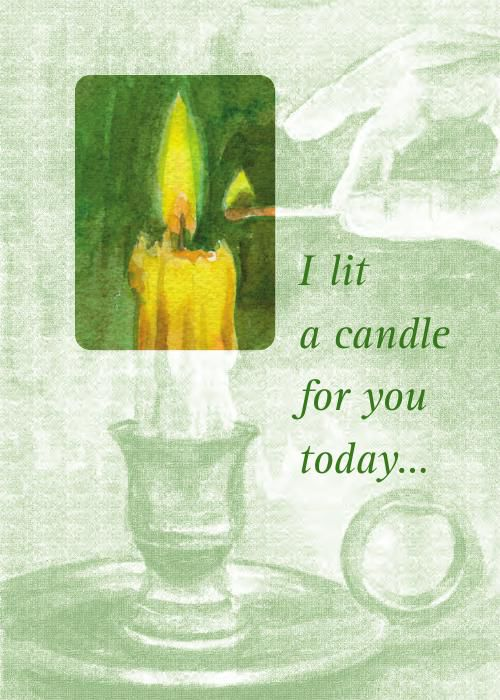 """I Lit A Candle For You"": All Occasion"