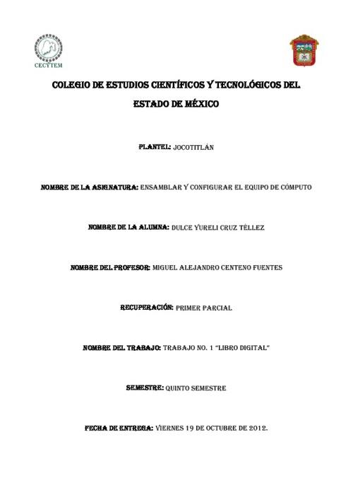 ENSAMBLAR Y CONFIGURA EQUIPOS DE COMPUTO