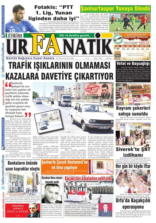30 07 2013 / Urfanatik Gazetesi