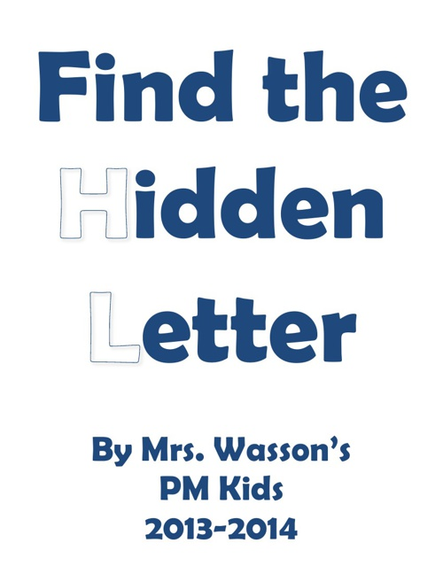 MT Mrs. Wasson's PM hidden letter book