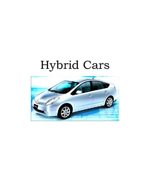 11.6 Hybrid Cars