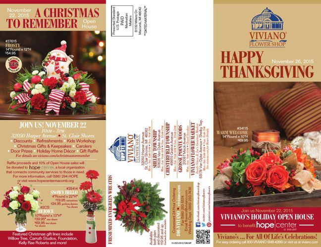 Viviano Flower Shop Thanksgiving Catalog 2015