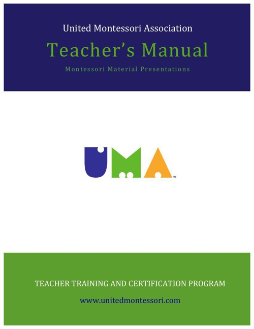 UMA TEACHER'S MANUAL