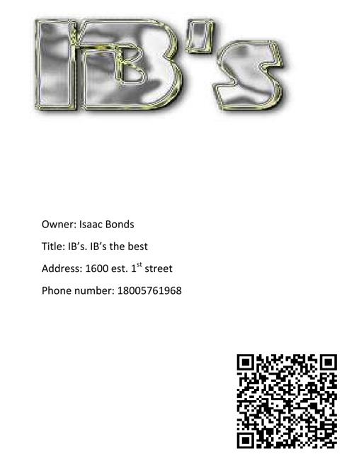 IB's Business Plan