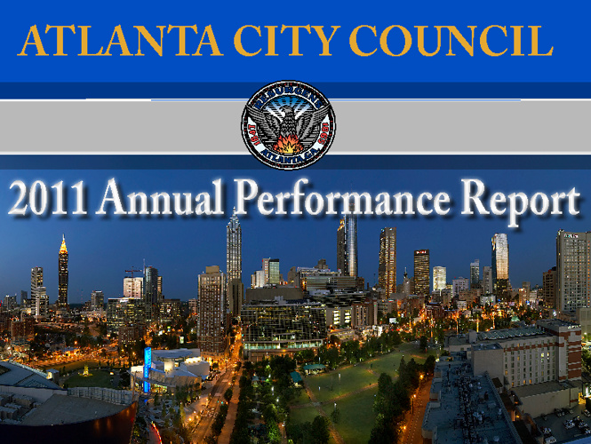 Atlanta City Council 2011 Annual Performance Report