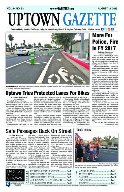 Uptown Gazette     August 12, 2016