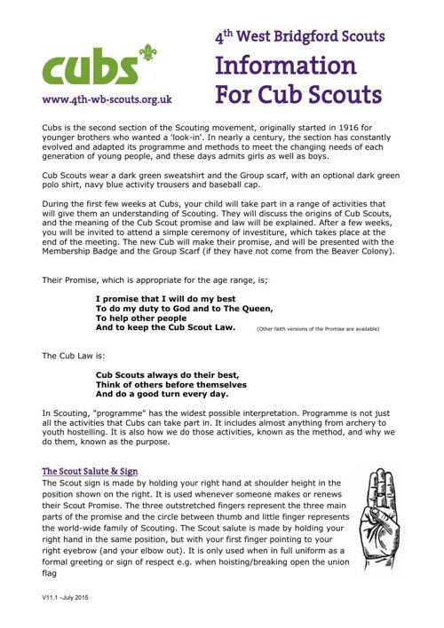 Information For Cub Scouts