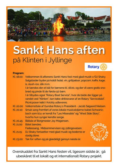 Gundsoe Rotary Sankt Hans aften