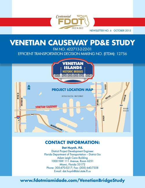 Venetian Causeway Newsletter No. 6 - English