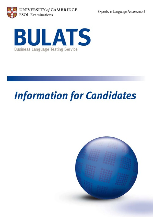 BULATS Information for Candidate Handbook