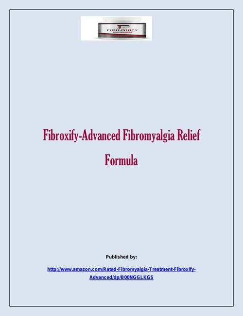 Fibroxify-Advanced Fibromyalgia Relief Formula