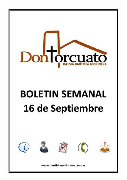 Boletin 16 de Septiembre