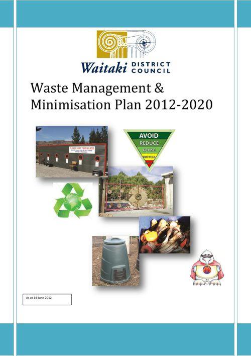 Waste Management and Minimisation Strategy 2012-2020