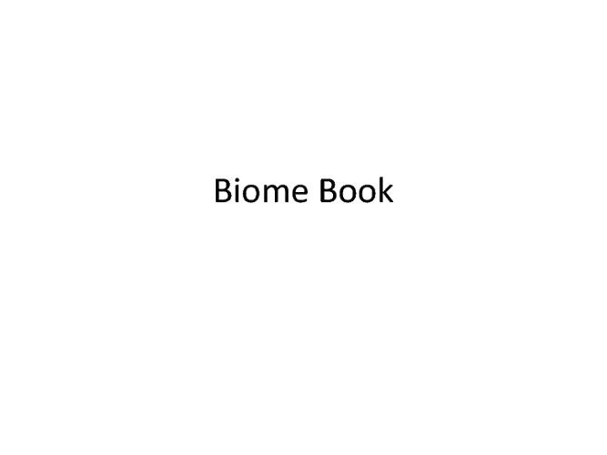 Biome Book - Kris W.