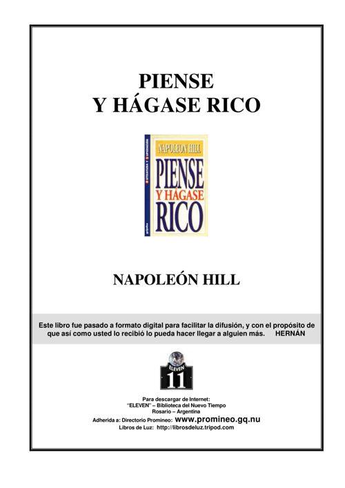 Piense y Hagase Rico PDF