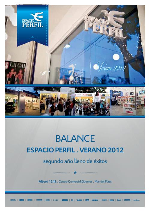 Balance Espacio Perfil Temporada 2012