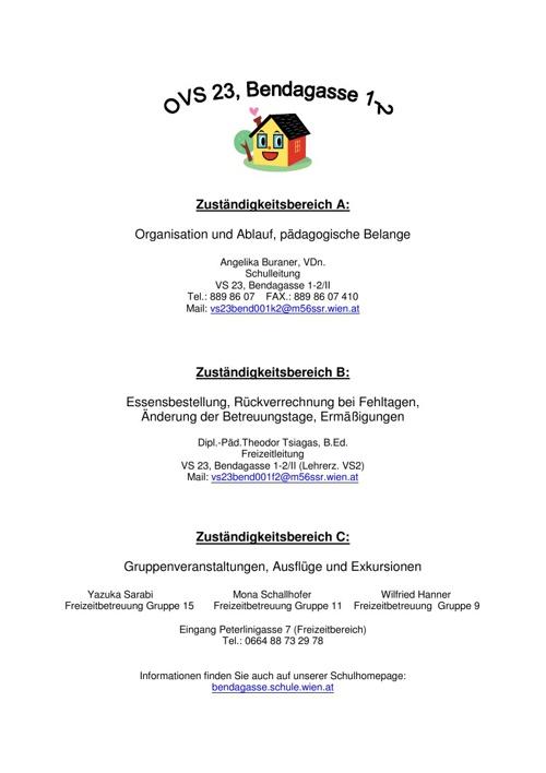 Infobroschüre OVS Bendagasse
