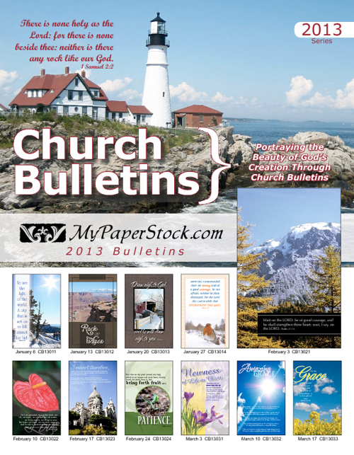 MyPaperStock.com 2013 Church Bulletins