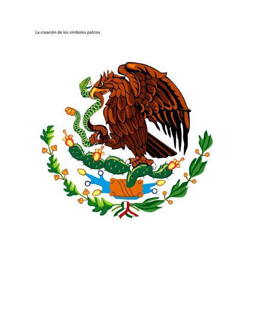 La creación de los símbolos patrios, correcion listo para españo
