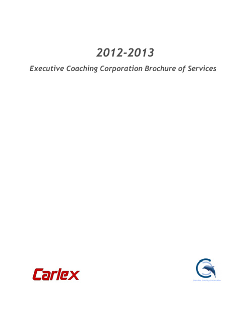 ECC 2012-2013 Brochure of Services for Carlex