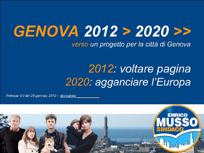 Programma Enrico Musso Sindaco 2012 (versione 29 GEN 2012)