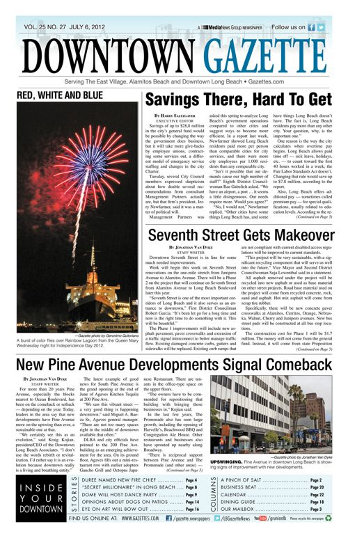 Downtown Gazette  |  July 6, 2012