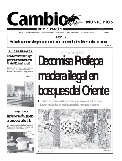 Municipios 13 Septiembre
